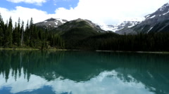 Unpolluted Pure Scenic Landscape Environment Lake Water British Columbia - stock footage