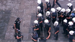 Police Intervention to Gezi Park Protesters Stock Footage