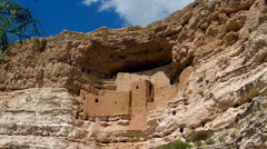 Montezuma Castle National Monument- Camp Verde Arizona Stock Footage