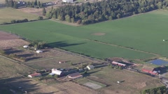 Farming Town from Above 2 Stock Footage