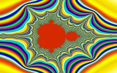 psychedelic mandelbrot fractal - stock illustration