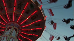 Carousel in motion in the evening Stock Footage