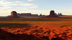4K Monument Valley Sunset 01 Timelapse Clouds Artist Point USA Stock Footage