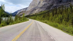 POV Driving Outdoor Tourism Glacial Mountain Valley Unpolluted Wildlife Habitat Stock Footage