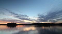 Sunset on Lake Rosseau. Timelapse. Stock Footage