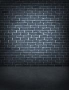 old outdoor brick wall - stock illustration