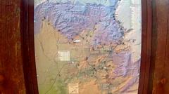Sedona Arizona Hiking Trail Map Stock Footage