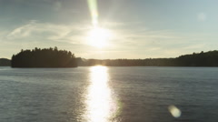 Day to Dusk at Lake Rosseau. Timelapse. Stock Footage