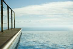 Stock Photo of Infinity pool