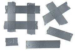 Duct tape isolated elements Stock Illustration