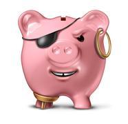 Financial criminal Stock Illustration