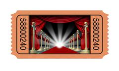Cinema ticket Stock Illustration