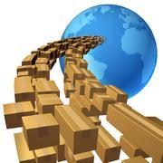 international shipping - stock illustration