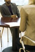 Professional man in job interview Stock Photos