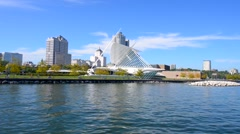 Milwaukee wisconsin sunny day Stock Footage
