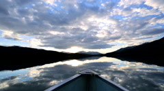 Unpolluted Pure Scenic Landscape Environment Lake Water British Columbia Stock Footage