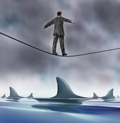 courage and risk - stock illustration
