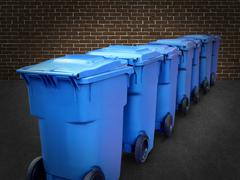 Recycle bins Stock Illustration