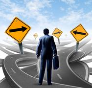 Strategic journey Stock Illustration