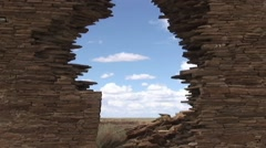 HD ANCIENT ANASAZI RUINS at CHACO CANYON, NEW MEXICO Stock Footage