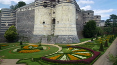 Chateau d'Angers - Angers France - HD 4K+ Stock Footage