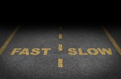 Fast and slow lanes Piirros