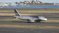 4K Spirit Airlines Airbus Stock Footage