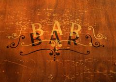 Stock Photo of Bar typography.