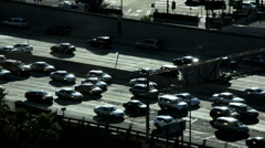 Stock Video Footage of Commuter traffic vehicle congestion city Freeway pollution California USA