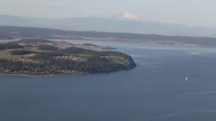 View Above Puget Sound. Stock Footage