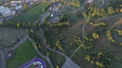 Circling Above University of Washington Stock Footage