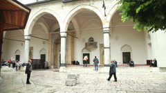 View of mosque in Sarajevo which is know for it's mixture of cultures. Stock Footage