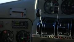 Aircraft Throttle Stock Footage