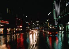 Sweden, Stockholm, street at night Stock Photos