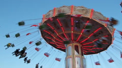 carousel in motion - stock footage
