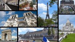 Paris in France, Collage Stock Footage