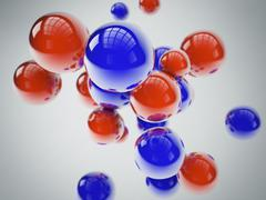 Blue and red spheres Stock Illustration