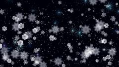 Snowflakes and Stars Stock Footage