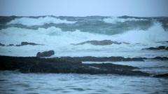 Tropical Cyclone Pacific coastline waves Hurricane Hawaii Big Island - stock footage