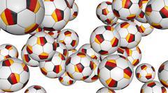 Germany soccer balls rotating on white Stock Photos
