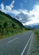 New Zealand, rural road - stock photo
