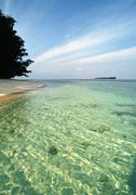 Malaysia, Perhentian Besar Island, shorescape Stock Photos