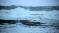Severe Tropical storm Hurricane Iselle Hawaiian Islands Big Island Stock Footage