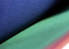 Blue, aqua, pink textured surfaces Stock Photos