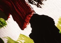 Paint strokes, close up Stock Photos