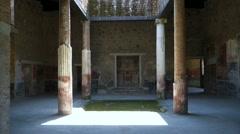 Pompeii domus Stock Footage
