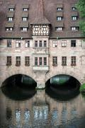 hospital of the holy spirit (heilig-geist-spital) in nuremberg city - stock photo