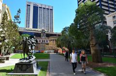 anzac square, brisbane - queensland australia - stock photo