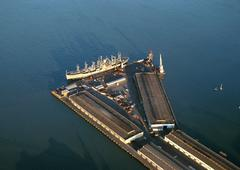 United States, California, San Francisco, industrial port, elevated view Kuvituskuvat