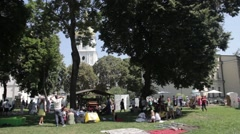 Park in Kyiv in the summer.  Stock Footage